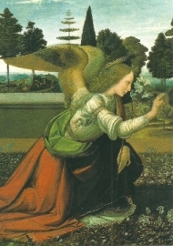 Engel met lelie, Leonardo da Vinci