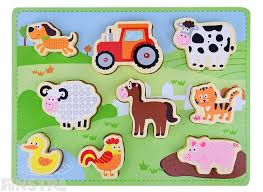 Houten puzzel New classic toys Farm puzzle ( 24 mnd)