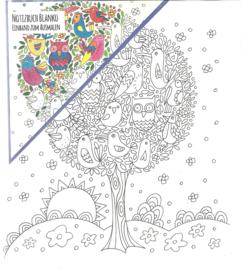 Notebook Goldbuch Relax Tree, om zelf te kleuren