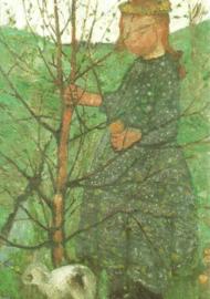 Boerenkind met konijntje, Paula Modersohn-Becker