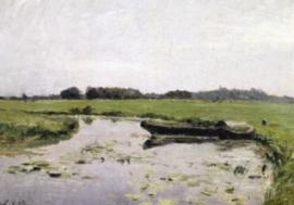 Twee boten op de Hamme, Otto Modersohn