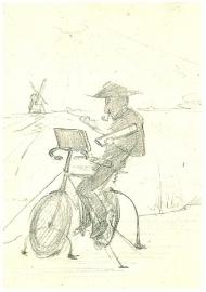 Mondriaan op de fiets, Simon Maris