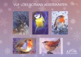Vijf prachtige kerstkaarten, Loes Botman