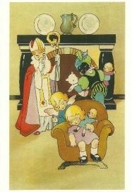 Sint en Piet brengen geschenken