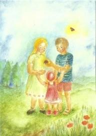 Juli, maandkaart Ilona Bock