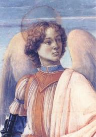 Detail uit de drie aartsengelen en Tobias, Sandro Botticelli