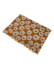 Olino Paperworks, Notebook met Blossom print, Geel