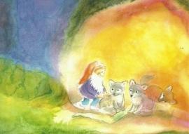 Dwerg met vossenkinderen, Johanna Schneider