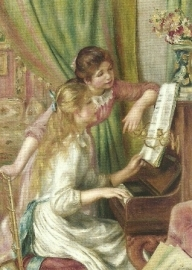 Jonge meisjes bij de piano, Pierre-Auguste Renoir