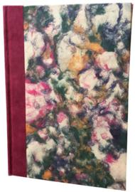 Olino Paperworks, Notebook met een omslag van gemarmerd loktapapier, Rood