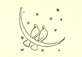 Twee duiven op maansikkel, Kees van Dongen