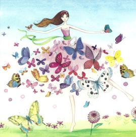 Vrouw met vlinderjurk, Kristiana Heinemann