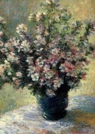 Boeket van malva's, Claude Monet
