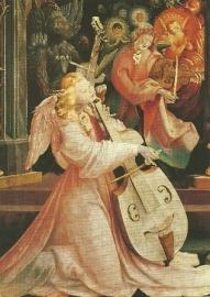 Musicerende engel (detail), Grünewald