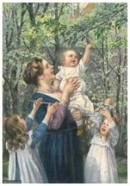 Moeder met drie kinderen, Cornelis Jetses