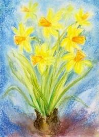 Gele narcissen, Marjan van Zeyl