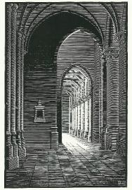 Interieur Nieuwe Kerk Delft, M.C. Escher