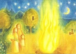 Juni maandkaart, Johannesvuur,  Heike Stinner