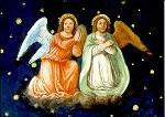Twee biddende engelen, Bernardo Luini