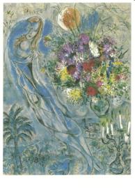 Geliefden in grijs, Marc Chagall