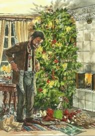 Pettson bij kerstboom, Sven Nordqvist