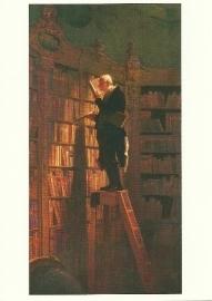 De boekenwurm, Carl Spitzweg