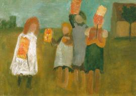 Kinderen met papieren lantarens, Paula Modersohn-Becker