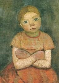 Meisje met over elkaar geslagen armen, Paula Modersohn-Becker
