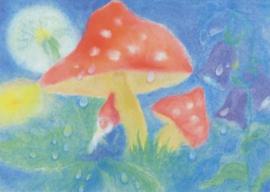 Dwerg onder een paddenstoel, Dorothea Schmidt