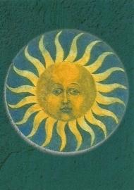 Rozenkrans medaillon 'Zon', V. Stoss