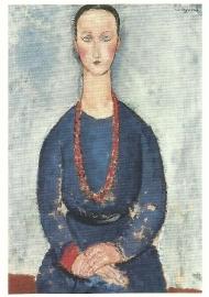Vrouw met rode halsketting, Amadeo Modigliani