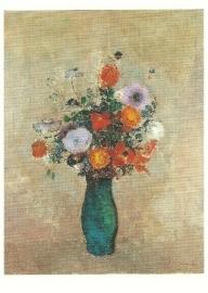Veldbloemen in vaas, Odilon Redon