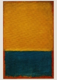 Geel en blauw, Mark Rothko.