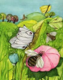 Bijen, bloesems en vlinders, Eva-Maria Ott-Heidmann DIN A4