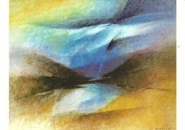 Landschap met bergen, J.D. Habegger