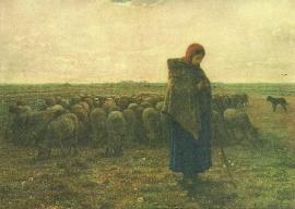 Schaapsherderin, Millet