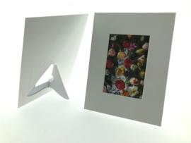 Passepartout voor ansichtkaart of foto, staand en liggend te gebruiken, karton