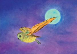 Uil bij volle maan, Brechtje Duijzer