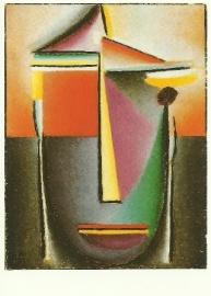 Abstract hoofd, Leven en dood, Alexej von Jawlensky