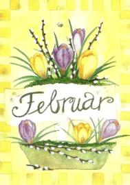 Februari, maandkaart Inga Berkensträter
