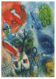 De clown met boomtak, Marc Chagall