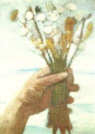 Hand met boeket bloemen, Paula Modersohn-Becker