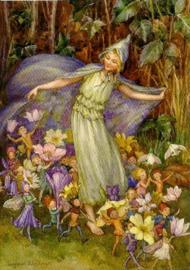 Voorjaarsbloemenmantel, Margaret W. Tarrant