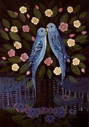 Verliefde vogels in boom, Diana Khan