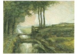 Landschap met sloot, Piet Mondriaan