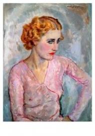 Jonge vrouw met roze blouse, Jan Sluijters
