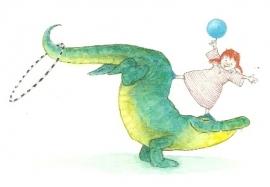 Acrobatische krokodil, Ingrid en Dieter Schubert