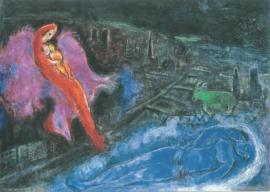 De Seinebrug, Marc Chagall