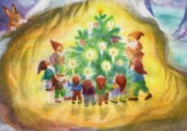 Dwergen bewonderen kerstboom, Dorothea Schmidt
