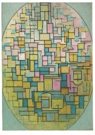 Tableau III: compositie in ovaal, Piet Mondriaan